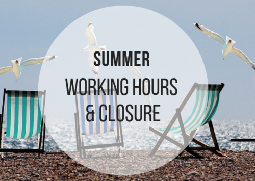 SUMMER WORKING HOURS AND HOLIDAYS